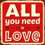 Tutto che abbiate bisogno di è amore Fotografie Stock Libere da Diritti