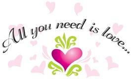 Tutto che abbiate bisogno di è amore? Fotografia Stock Libera da Diritti