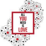 Tutto che abbiate bisogno di è amore Immagine Stock Libera da Diritti