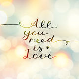 Tutto che abbiate bisogno di è amore Immagini Stock Libere da Diritti