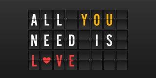 Tutto che abbiate bisogno di è amore Fotografie Stock