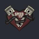 Tutto che abbiate bisogno di è grafico veloce del T, grafico del club della velocità per la maglietta, manifesto Fotografie Stock