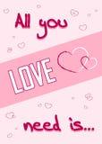 Tutto che abbiate bisogno di è rosa di amore Immagine Stock