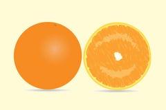 Tutto e un'arancia affettata Illustrazione Vettoriale