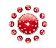 Tutto il colore rosso dello zodiaco Fotografia Stock Libera da Diritti