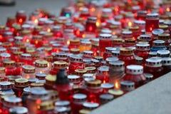 Tutto il giorno di san, cimitero di Mirogoj a Zagabria Immagine Stock Libera da Diritti