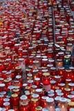Tutto il giorno di san, cimitero di Mirogoj a Zagabria Immagini Stock Libere da Diritti