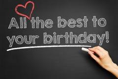Tutto il meglio al vostro compleanno! Immagini Stock Libere da Diritti