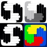 Tutto il mondo sulle vostre mani Immagine Stock
