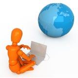 Tutto il mondo in vostro computer portatile Fotografia Stock Libera da Diritti