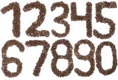 Tutto il numero fatto dei dadi di cedro Fotografie Stock Libere da Diritti