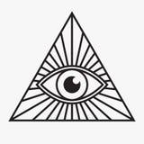 tutto il simbolo vedente dell'occhio Immagine Stock Libera da Diritti