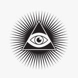tutto il simbolo vedente dell'occhio Immagini Stock Libere da Diritti