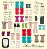 Tutto l'abito della ragazza nel colore dell'insieme Fotografia Stock Libera da Diritti