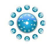 Tutto l'azzurro dello zodiaco Royalty Illustrazione gratis