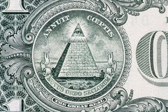 Tutto-vedere occhio Segno massonico Simbolo del muratore 1 un dollaro Immagine Stock Libera da Diritti