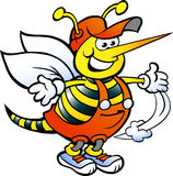 Tuttofare felice Bee Fotografia Stock Libera da Diritti