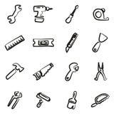 Tuttofare Icons Freehand Fotografie Stock