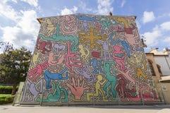 ` Tuttomondo ` door Keith Haring Stock Afbeeldingen
