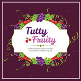 Tutty fruity. Grape and cherry wreath Royalty Free Stock Photos