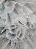 Tutu close up. Close up of a sparkling grey tutu/tulle fabric Royalty Free Stock Image