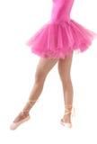 Tutu femminile Unrecognizable del corpo del danzatore isolato Fotografie Stock Libere da Diritti