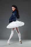 Tutu and leather jacket Stock Image
