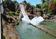 Tutuki Splash ride in Port Aventura amusement park. Stock Image