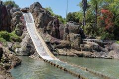 Tutuki Splash ride in Port Aventura amusement park. Royalty Free Stock Photography