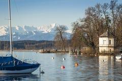 Tutzing nel lago Fotografia Stock