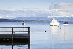 Tutzing nel lago Starnberg Fotografie Stock