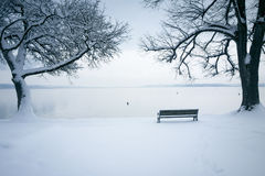Tutzing snow Royalty Free Stock Photos