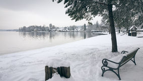 Tutzing snow Royalty Free Stock Photography