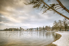 Tutzing winter Royalty Free Stock Images