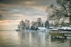 Tutzing winter Stock Photo
