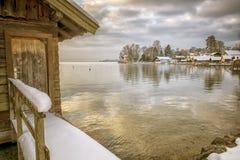 Tutzing winter Royalty Free Stock Photo