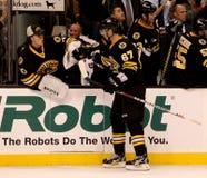 Tuukka Rask and Benoit Pouliot Boston Bruins Stock Image