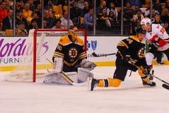 Tuukka Rask and Dennis Siedenberg, Boston Bruins Stock Image