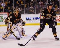Tuukka Rask et charagne de Zdeno, Boston Bruins Photos libres de droits