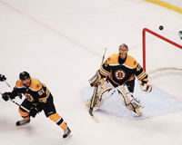 Tuukka Rask and Johnny Boychuk Royalty Free Stock Image