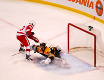 Tuukka Rask makes the save (NHL Hockey) Royalty Free Stock Photography