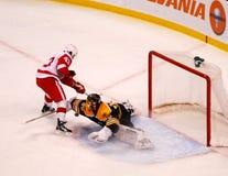 Tuukka Rask makes the save (NHL Hockey) Royalty Free Stock Photography