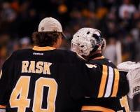Tuukka Rask and Tim Thomas Royalty Free Stock Photos