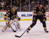Tuukka Rask & Zdeno Chara, Boston Bruins. Royalty Free Stock Photos