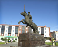 Tuva is the city of Kyzyl. Royalty Free Stock Image