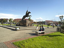Tuva is the city of Kyzyl. Royalty Free Stock Photography