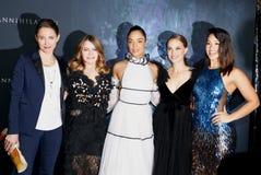 Tuva Novotny, Jennifer Jason Leigh, Tessa Thompson, Natalie Portman et Gina Rodriguez Photographie stock libre de droits