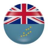 Tuvalu button on white background Stock Photography