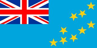 Tuvalu Flag. 2D illustration of the flag of Tuvalu Royalty Free Stock Photo