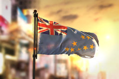 Free Tuvalu Flag Against City Blurred Background At Sunrise Backlight Royalty Free Stock Image - 92752366